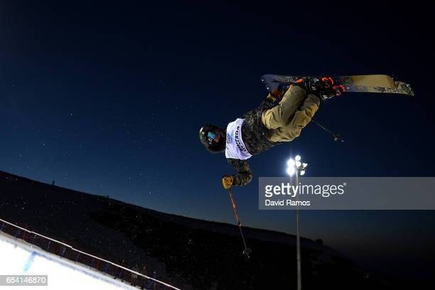 Birk Irving of the Unites States competes in the Men's halfpipe qualification round on day 9 of the FIS Freestyle Ski Snowboard World Championships...
