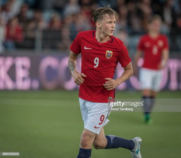 Birk Risa of Norway during the Qualifying Round European Under 21 Championship 2019 between Norway v Kosovo at Ullevaal Stadion on June 12 2017 in...