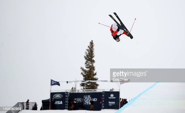 Birk Ruud of Norway competes in the Men's Freeski Halfpipe Qualifications at the 2020 U.S. Grand Prix at Mammoth Mountain on January 30, 2020 in...