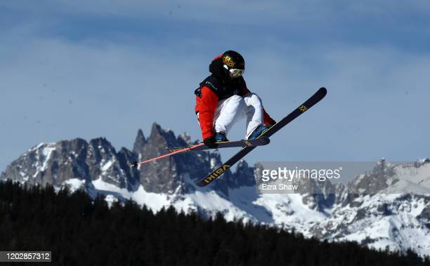 Birk Ruud of Norway goes over a jump during the Men's Freeski Slopestyle Qualifications at the 2020 U.S. Grand Prix at Mammoth Mountain on January...