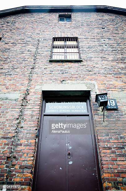Birkenau concentration camp in Oswiecim, Poland, Entrance into block 19