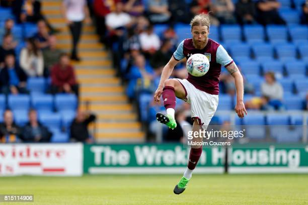 Birkir Bjarnason of Aston Villa during the PreSeason Friendly between Shrewsbury Town and Aston Villa at the Montgomery Waters Meadow on July 15 2017...