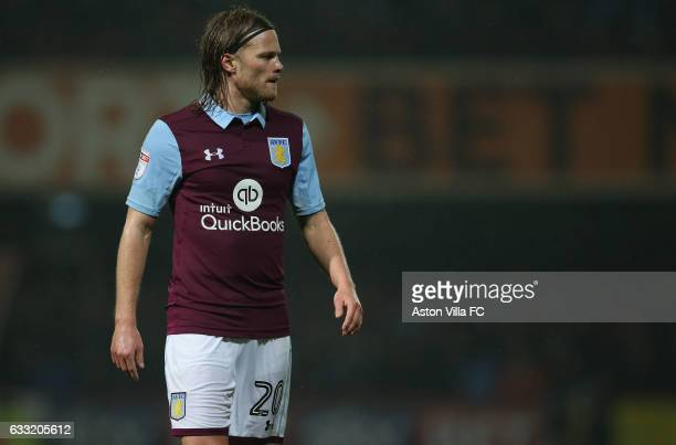 Birkir Bjarnason of Aston Villa during the Sky Bet Championship match between Brentford and Aston Villa at Griffin Park on January 31 2017 in...