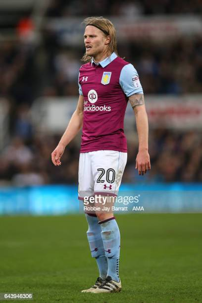 Birkir Bjarnason of Aston Villa during the Sky Bet Championship match between Newcastle United and Aston Villa at St James' Park on February 20 2017...
