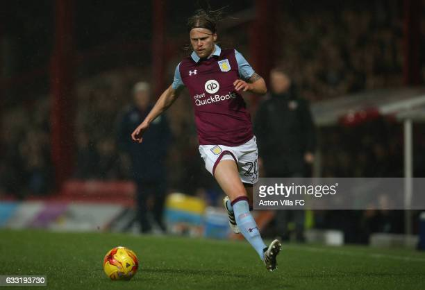 Birkir Bjarnason of Aston Villa in action during the Sky Bet Championship match between Brentford and Aston Villa at Griffin Park on January 31 2017...