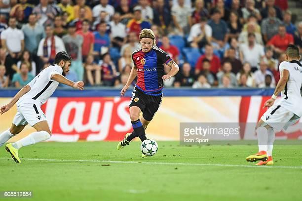 Birkir Bjarnason of Basel during the Uefa Champions League match between Basel Fc and PFC Ludogorets Razgrad on September 13 2016 in Basel Switzerland