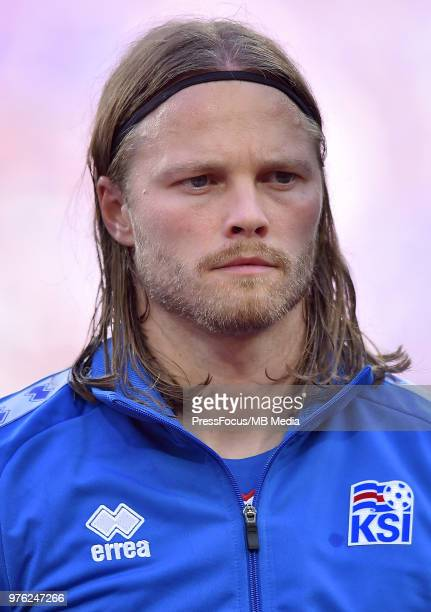 Birkir Bjarnason of Iceland during the 2018 FIFA World Cup Russia group D match between Argentina and Iceland at Spartak Stadium on June 16 2018 in...
