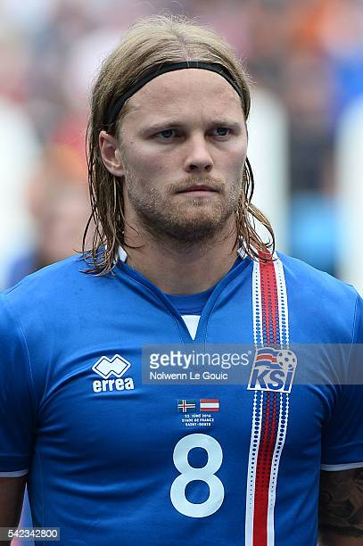 Birkir Bjarnason of Iceland during the UEFA EURO 2016 Group F match between Iceland and Austria at Stade de France on June 22 2016 in Paris France