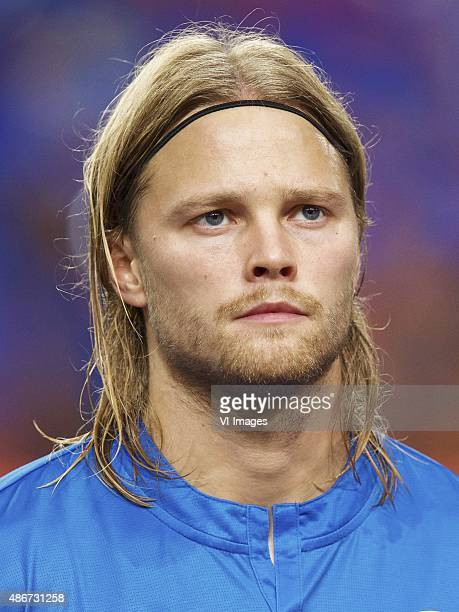 Birkir Bjarnason of Iceland during the UEFA Euro 2016 qualifying match between Netherlands and Iceland on September 3 2015 at the Amsterdam Arena in...