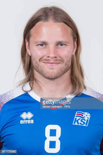 Birkir Bjarnason of Iceland poses during the official FIFA World Cup 2018 portrait session at Resort Centre Nadezhda on June 11 2018 in Gelendzhik...