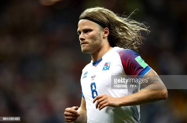 Birkir Bjarnason of Iceland runs on during the 2018 FIFA World Cup Russia group D match between Iceland and Croatia at Rostov Arena on June 26 2018...