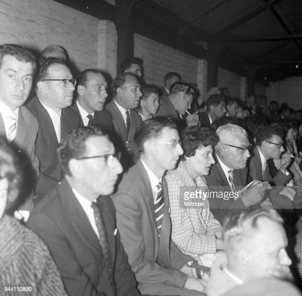 Birmingham 36 Wolves division one league match at St Andrews Saturday 7th October 1961 Pictured Relatives of Mark Lazarus of Wolves watch the match