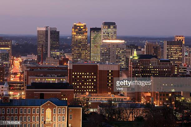 Birmingham, Alabama skyline at dusk