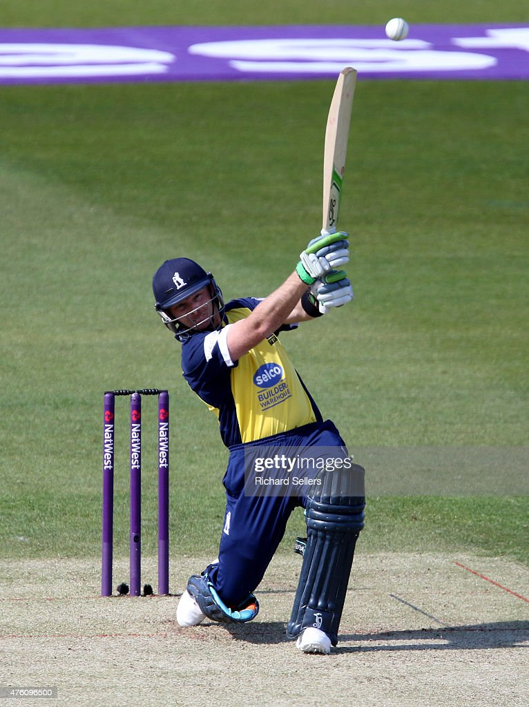 Birmingham Bears Ian Bell in action during the NatWest T20 Blast between Durham Jets and Birmingham Bears at Emirates Durham ICG, on June 06, 2015 in Chester-le-Street, England.