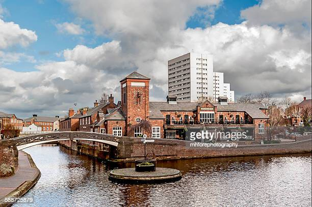 birmingham canal roundabout - birmingham england stock photos and pictures