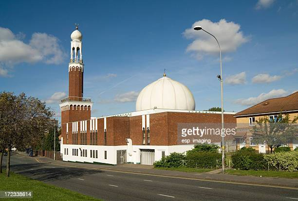 birmingham central mosque - mosque stock pictures, royalty-free photos & images