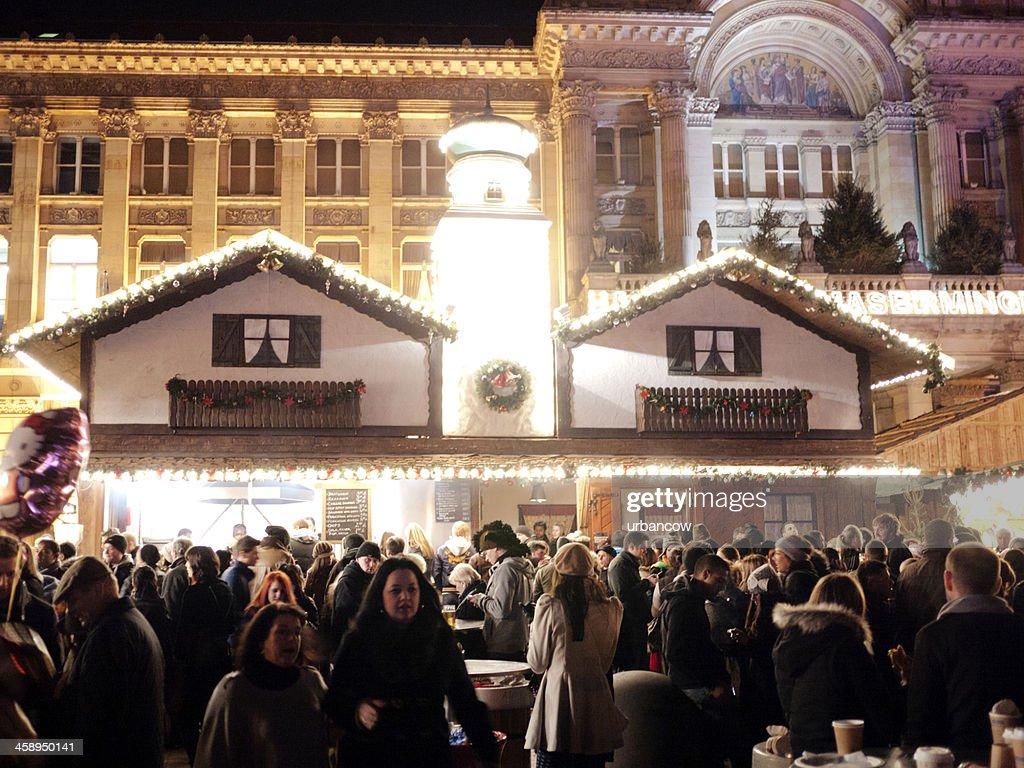 Birmingham Christmas Market, Victoria Square : Stock Photo