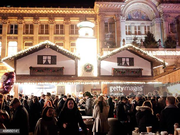 birmingham christmas market, victoria square - birmingham england stock pictures, royalty-free photos & images