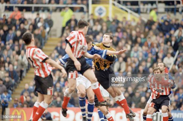Birmingham City 0 2 Sunderland Old First division match at St Andrews Stadium Birmingham 17th March 1996 On loan Sunderland keeper Shay Given in...