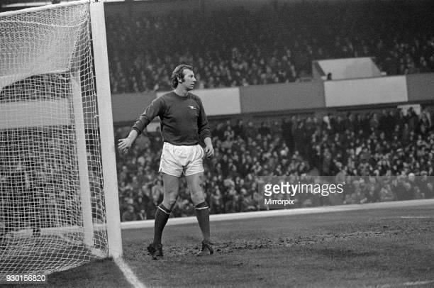 Birmingham City 1-1 Arsenal, league match at St Andrews, Saturday 23rd December 1972. Bob Wilson. Goalkeeper.