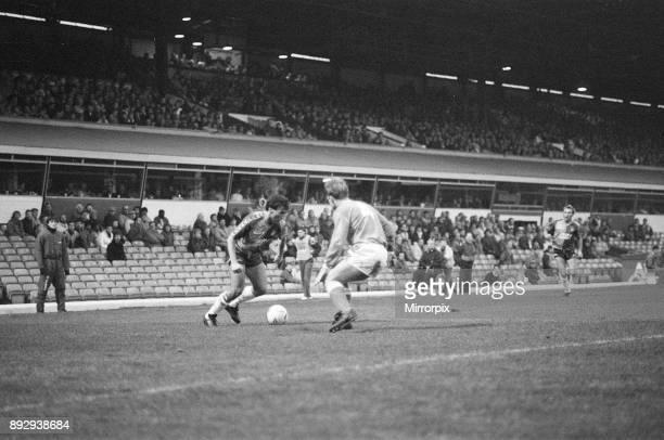 Birmingham City 12 Aston Villa league division 2 match at St Andrews Saturday 12th December 1987
