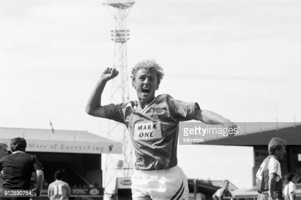 Birmingham City 30 Crewe Alexandra league match at St Andrews Saturday 19th August 1989 Mark Yates celebrates scoring his first goal of season and...