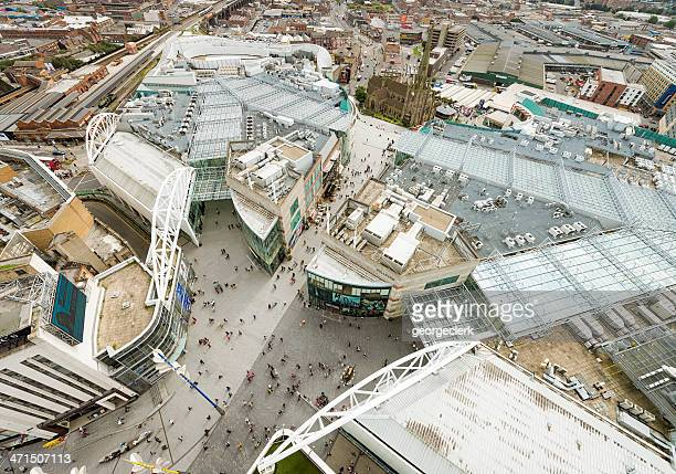 birmingham city centre from above - birmingham uk stock photos and pictures