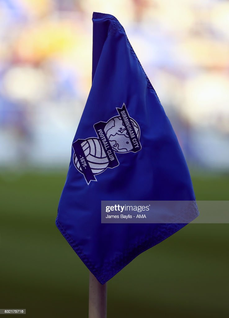 Birmingham City corner flag during the Sky Bet Championship match between Birmingham City and Bolton Wanderers at St Andrews (stadium) on August 15, 2017 in Birmingham, England.