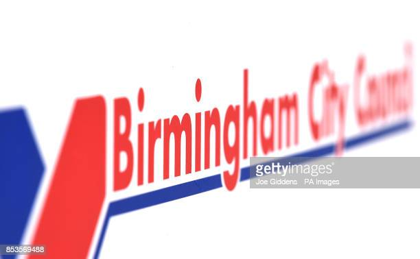 Birmingham City Council logo on a sign in Edgbaston Birmingham