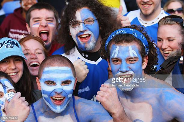 Birmingham City fans enjoy the Barclays Premier League match between Birmingham City and Tottenham Hotspur at St Andrews on March 1 2008 in...