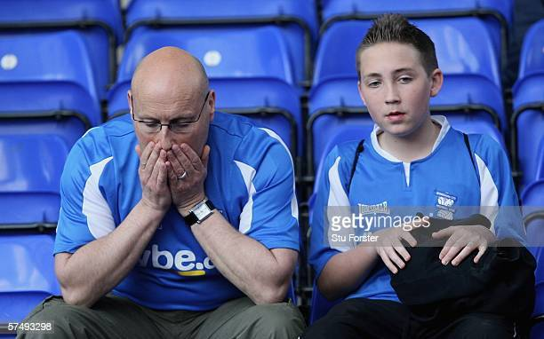 Birmingham City fans look dejected following their team's relegation after the Barclays Premiership match between Birmingham City and Newcastle...