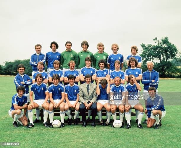 Birmingham City FC July 1977 BACK ROW LEFT TO RIGHT Oliver Richard Seragia David Latchford Stephen Smith James Montgomery John Connolly Stephen Fox...