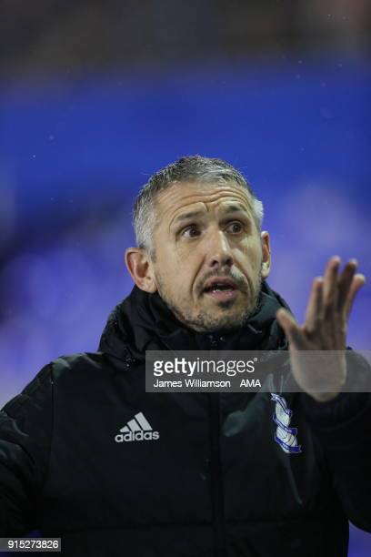 Birmingham City Goalkeeping coach Kevin Hitchcock during The Emirates FA Cup Fourth Round Replay at St Andrews on February 6 2018 in Birmingham...