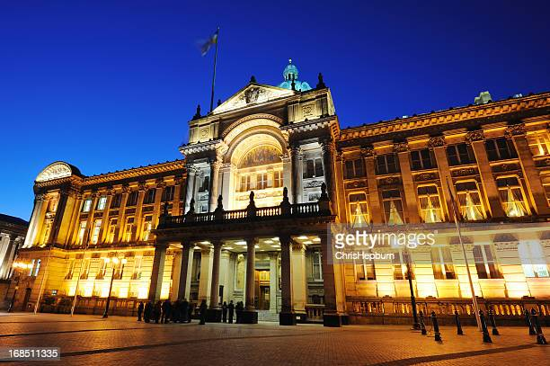 birmingham city hall - town hall stock photos and pictures