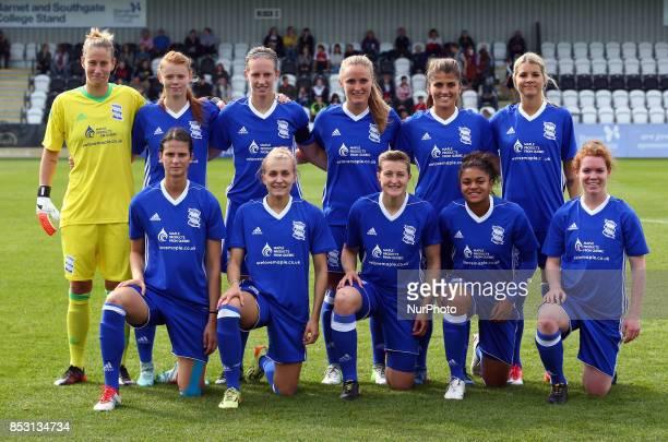 Birmingham City Ladies Team Shoot during Women's Super League 1 match between Arsenal Women against Birmingham City Ladies at Borehamwood Football...