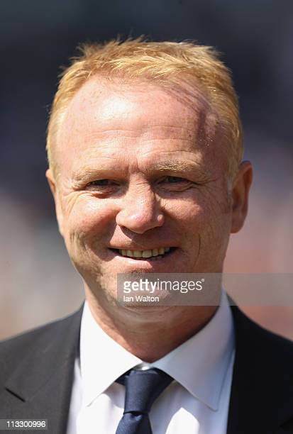 Birmingham City manager Alex McLeish looks on during the Barclays Premier League match between Birmingham City and Wolverhampton Wanderers at St...