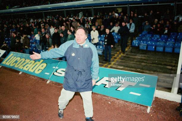 Birmingham City manager Barry Fry Birmingham City v Kidderminster Harriers final score 21 to Kidderminster Harriers FA Cup 3rd round venue St Andrews...