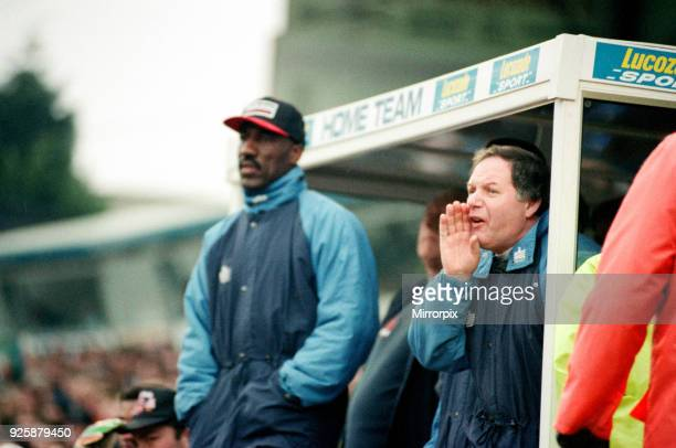 Birmingham City manager Barry Fry in the dugout Birmingham City v Kidderminster Harriers final score 21 to Kidderminster Harriers FA Cup 3rd round...