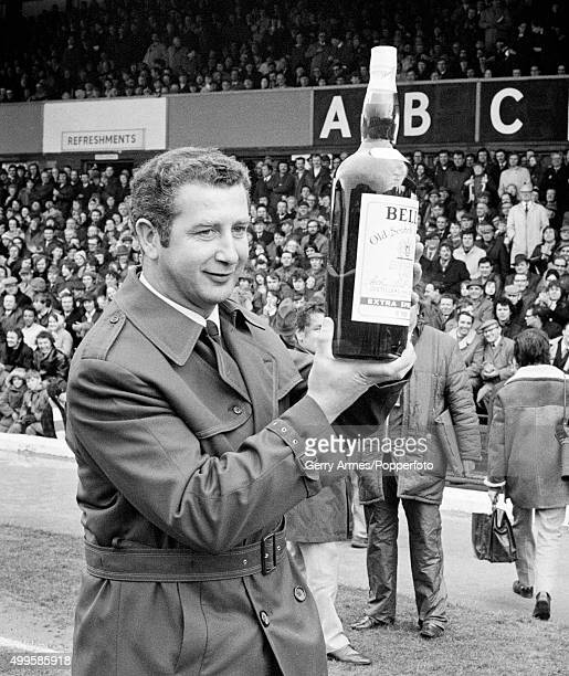Birmingham City manager Freddie Goodwin with his Bell's Whisky Manager of the Month award prior to the 2nd Division match between Birmingham City and...