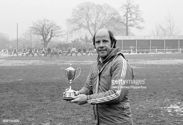 Birmingham City manager Jim Smith with his Birmingham Sports Argus award at Elmdon Heath 21st February 1979