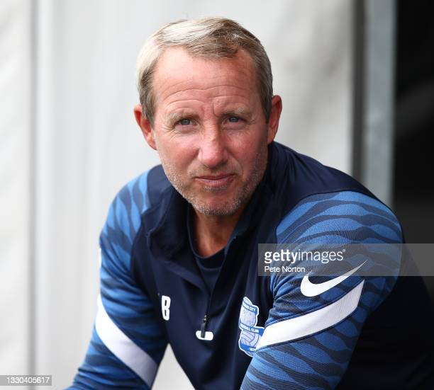 Birmingham City manager Lee Bowyer looks on prior to the pre-Season Friendly match between Northampton Town and Birmingham City at Sixfields on July...