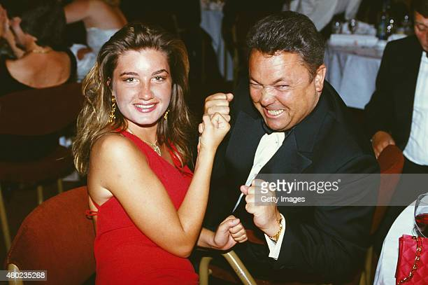 Birmingham City managing director Karren Brady and chairman David Sullivan pose for a picture at a function circa 1993
