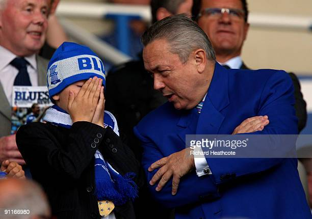 Birmingham City Owner David Sullivan looks on during the Premier League match between Birmingham City and Bolton Wanderers at St. Andrews Stadium on...