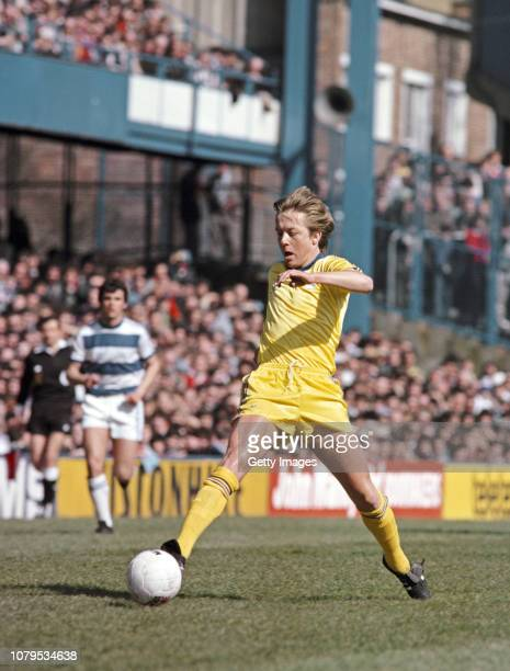 Birmingham City player Alan Curbishley in action during a Second Division match against Queens Park Rangers at Loftus Road on April 5 1980 in London...