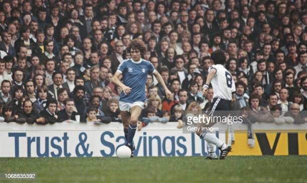 Birmingham City player Alberto Tarantini takes on fellow Argentinian Ossie Ardiles during an FA Cup 5th Round tie at White Hart Lane against...