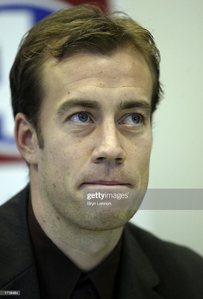 Birmingham City sigining Jamie Clapham during a press conference before training at Kings Norton in Birmingham, England on January 10, 2003.