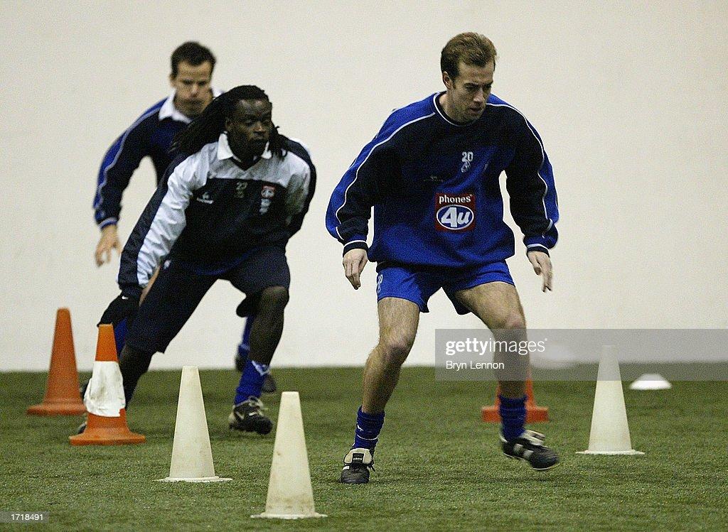 Birmingham City signing Jamie Clapham during training at Kings Norton in Birmingham, England on January 10, 2003.