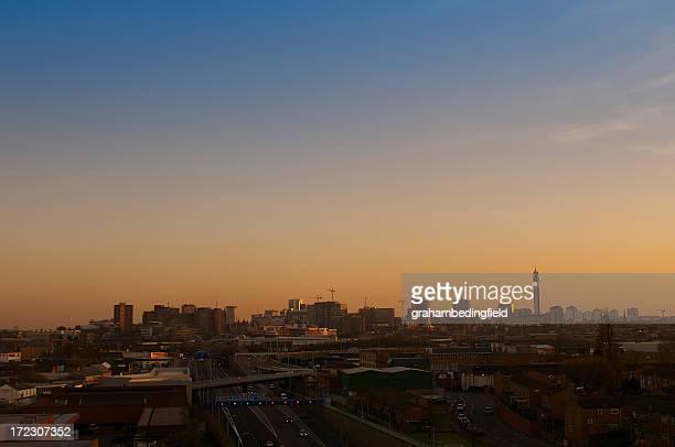 birmingham city skyline - birmingham england stock pictures, royalty-free photos & images