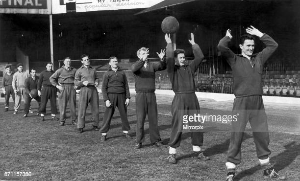 Birmingham City training at St Andrews 26th February 1953.