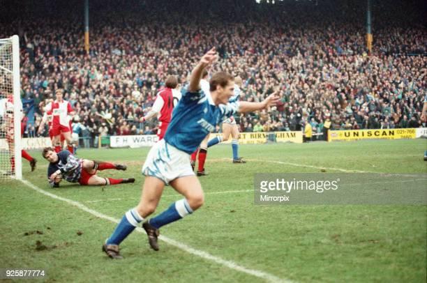 Birmingham City v Kidderminster Harriers, final score 2-1 to Kidderminster Harriers. FA Cup 3rd round, venue St Andrews, Birmingham, 8th January 1994.